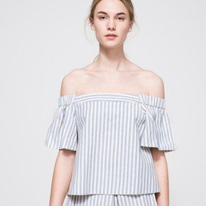 Farrow Striped Off the Shoulder Top Size L